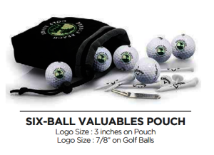 6 Ball Pouch with Tee Pack - Callaway - 6 Ball Pouch with Tee Pack