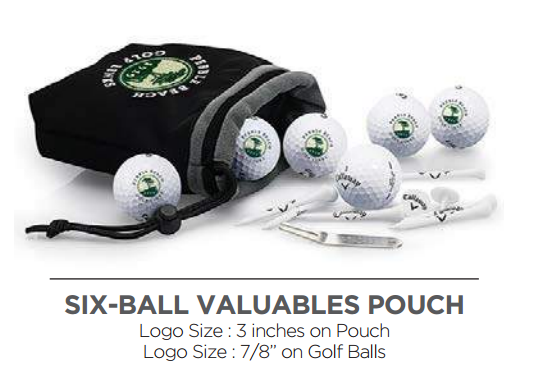 5d1898e3d3 6 Ball Pouch with Tee Pack - Callaway - 6 Ball Pouch with Tee Pack